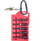 Cheetah Quick Release Impact Nutdrivers 5pc. Set