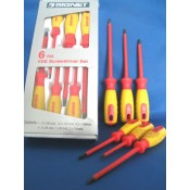 Signet Screwdriver 6pc Set VDE 1000V Insulated (52590)