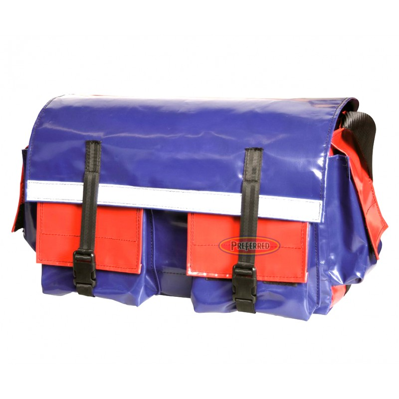 All Weather Vinyl (Medium) Red/Blue Tool Bag
