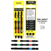 "TQRx iMPACT Star and Phillips Drive Bits 4"" (3pc Set)"
